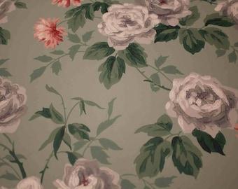 Imperial Wallpaper Sample Gray Roses