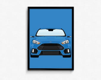 Ford Focus RS A3 Print