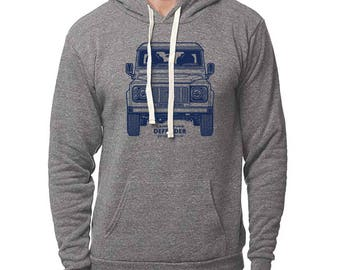 Classic Land Rover Defender Front Pullover Hoodie