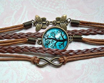 Wrap Bracelet Infinity Cabochon