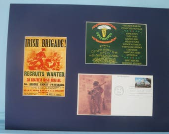 The Irish Brigade in the Civil War & First Day Cover honoring Irish immigration