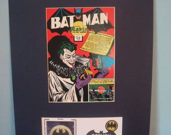 DC Comic Book Hero Batman and Robin versus The Joker & First Day Cover of the Batman Stamp