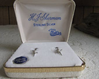 Sterling Silver Cultured Pearls Earrings H. J. Sherman Styled by Marvel Crosses Vintage Women's Jewelry and Accessories