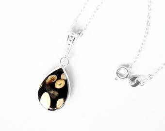 Peanut Jasper Necklace in Sterling Silver