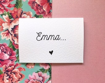 Personalised 'Will You Be My Bridesmaid/Maid Of Honour/Matron Of Honour/Flower Girl' Surprise card