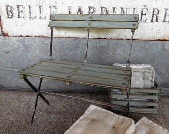 French garden bench,  1:12