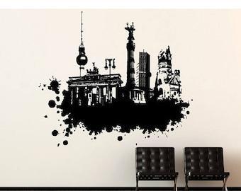 20% OFF Summer Sale Berlin Streetart wall decal, sticker, mural, vinyl wall art