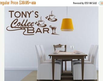 Bar Wall Decal Etsy - Custom vinyl wall decals coffee
