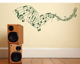 20% OFF Winter Sale Music Staff wall decal, sticker, mural, vinyl wall art