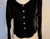 Navajo Velvet Vintage Blouse with silver buttons