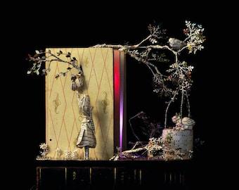Paper Sculpture Fineart Postcard Les Petites filles modèles n-1