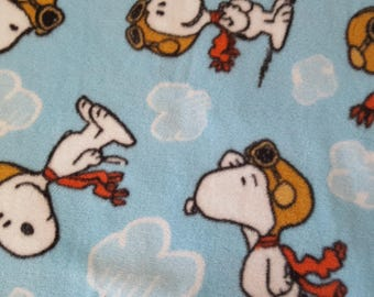 Snoopy Flying Ace Antipill Fleece (1 yard 11 inches)