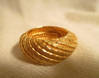 Rare Lucien Piccard scarf ring