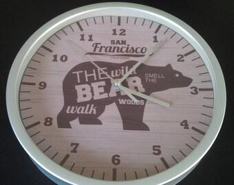 clock wall bear buffalo country