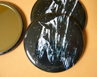 Black and white Pocket mirror