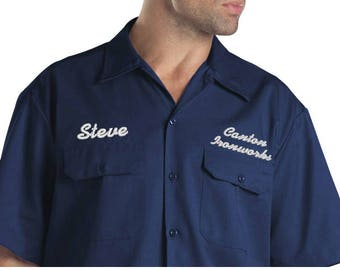 ... CCC Dickies Embroidered Work Shirts ...