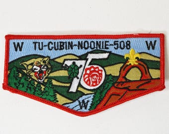 Clearance - BSA OA Order of the Arrow Tu-Cubin-Noonie Lodge 508 Flap Patch, 75th Anniversary