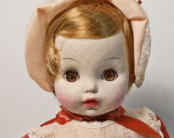 "Vintage 1969 Horsman Sleepy Eye Girl Baby Doll 15"" - NIB, NOS"