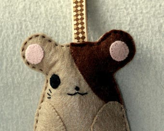 Door keys or bag charm two-tone mouse