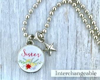 kids bracelet, kids jewelry, kids pendant, sister charm, sister jewelry, interchangeable jewelry, photo charm