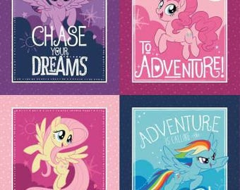My Little Pony Character Frames Digital Cotton Woven panel