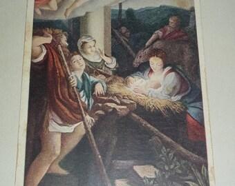 On Sale Unused UDB Antique Nativity Postcard