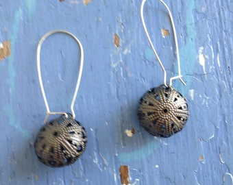 Gunmetal Filigree Sphere Pireced Earrings