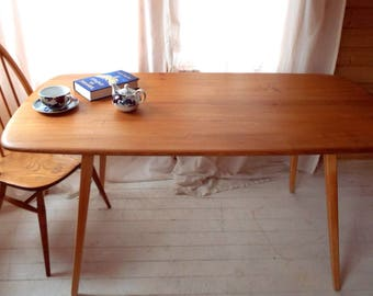Ercol Plank Dining Table, model 382