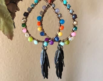 Colorful bronze hoops