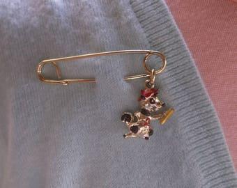 Super Rare 1960's Alvin The Chipmunk Enamel 3-D Charm Pin Brooch