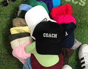 COACH Hat | Coach Dad Hat | Soccer Coach | Baseball Coach | Football Coach | Coach Gift |Baseball Coach Gift | Football Coach Gift |Dad Hats
