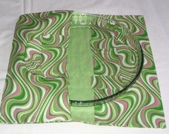 Reversible psychedelic pie bag - Green