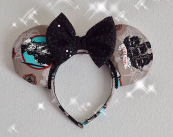 Pirates of the Caribbean Ears Black Pearl Jack Sparrow Minnie Mickey Mouse Ears