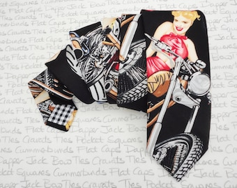 Neck ties for men, 40's pin up girlie tie
