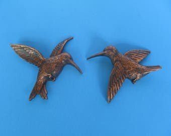 Hummng Birds Copper Craft guild - set of 2 - one pair