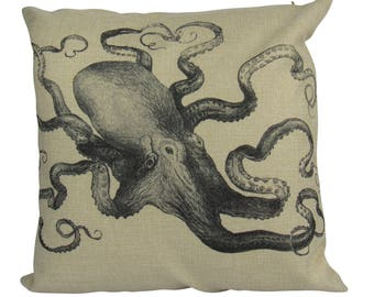 Octopus Steampunk Ocean - Pillow Cover