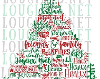 Cajun Christmas Tree SVG file