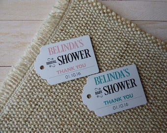 Bridal Shower Tags, Baby Shower Tags, Shower Favor Tags. Custom Favor Tags. Bachelorette. Set of 25 to 300 pieces, Custom Language available
