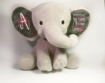 Baby Birth Announcement, Baby Birth Announcement Elephant