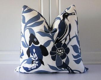 Lu Lu DK Decorative Pillow Cover- Sardinia in Ocean-Indigo-Koi Fish-18x18, 20x20, 22x22