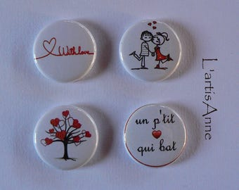 Magnets Valentine 2 Badges or magnets.