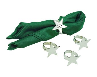 Personalized Napkin Rings Star Shaped Perfect For Christmas Birthdays Weddings Graduations Holiday Decorations  Housewarming Home Decor