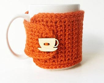 Pumpkin Mug Cozy, Tea Gift, Coffee Gift, Office Gift