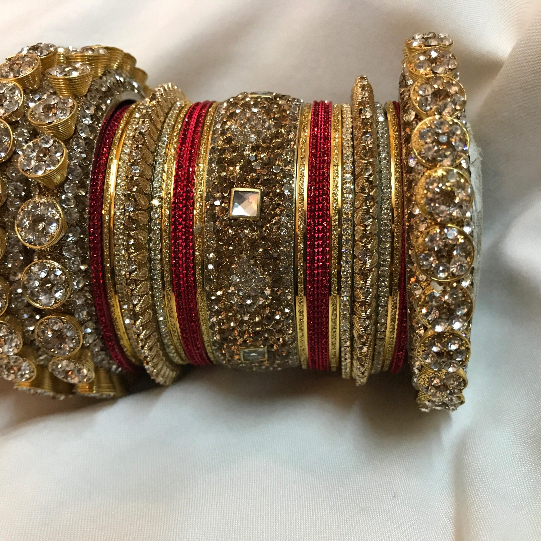 Bangles, gold bangles, red bridal bangles, indian bangles ...