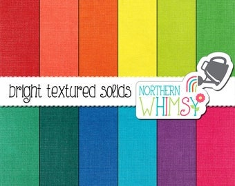 Bright Digital Paper - solid colored digital scrapbook backgrounds with a distressed paper texture - commercial use CU OK