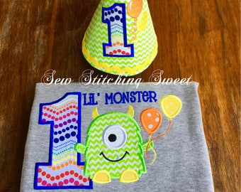 Monster Birthday Shirt, Personalized Birthday Shirt, 1st Birthday, Monster Birthday Party, First Birthday Shirt, Monster Party Shirt