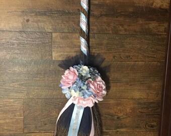 Spring Time love Custom Wedding  Broom, African Jumping Broom, Wedding Broom, we can design any style broom for your wedding.