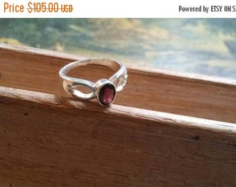 Holiday SALE 85 % OFF Amethyst  Size 6 3/4 Ring Gemstone. 925 Sterling  Silver Tribal Ethnic