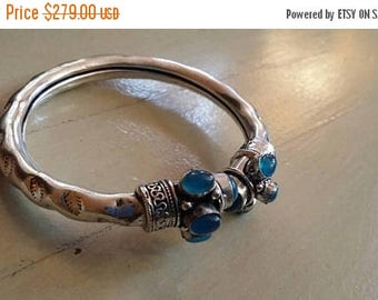 Holiday SALE 85 % OFF Chalcedony   Bangle Cuff Gemstone 925 Sterling Silver