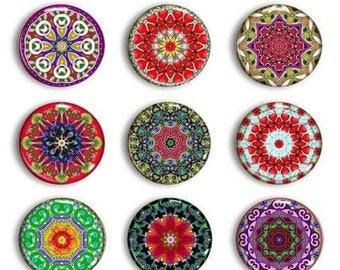 Sale Mandala Magnets - Gift for Her - Refrigerator Magnets - Boho Magnets - Meditation Magnets - Magnetic Chalkboard - Unique Gift